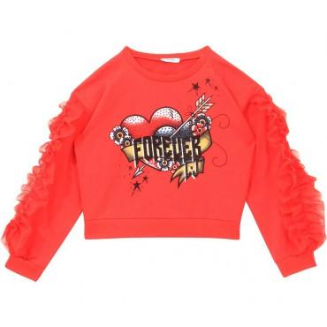 Krótka bluza dla dziewczynki Liu Jo 004380 - ubrania dla dzieci - sklep internetowy euroyoung.pl
