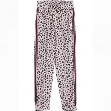Dziewczęce spodnie w panterkę Liu Jo 004381 - ubrania dla nastolatek - internetowy sklep z ubraniami dla dzieci euroyoung.pl