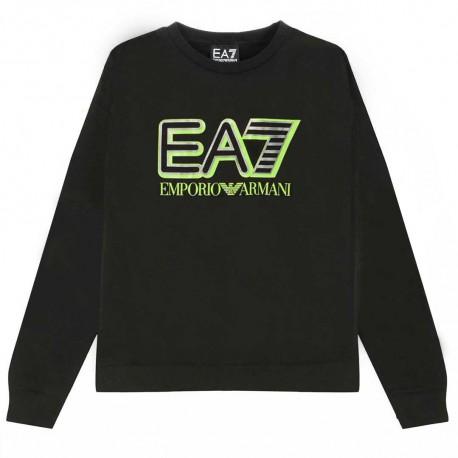 Czarna bluza chłopięca z logo EA7 004382 - ubrania dla dzieci - sklep internetowy euroyoung.pl