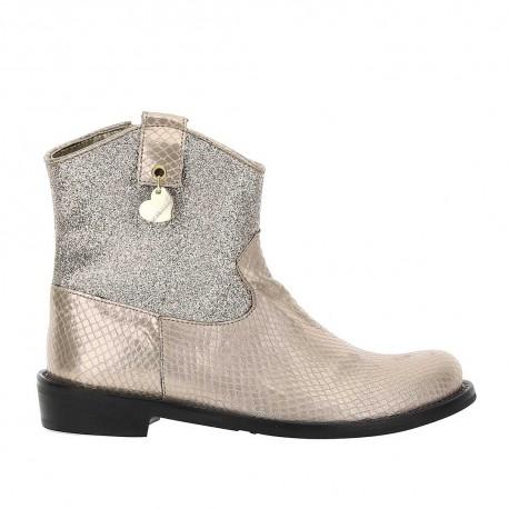 Złote botki dla dziewczynki Monnalisa 004386 - buty dla dzieci - sklep internetowy euroyoung.pl
