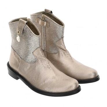 Złote botki dla dziewczynki Monnalisa 004386 - obuwie dla dzieci - sklep internetowy euroyoung.pl