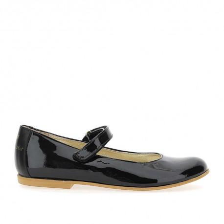 Czarne baleriny dla dziewczynki Monnalisa 004388 - buty dla dzieci i młodzieży- sklep internetowy euroyoung.pl
