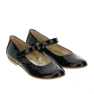 Czarne baleriny dla dziewczynki Monnalisa 004388 - obuwie dla dzieci - sklep internetowy euroyoung.pl