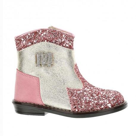 Oryginalne botki dla dziewczynki Monnalisa 004389 - modne buty dla dzieci i niemowląt - sklep internetowy euroyoung.pl