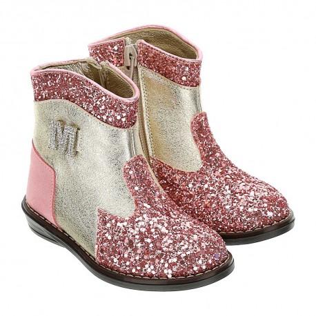 Oryginalne botki dla dziewczynki Monnalisa 004389 - buty dla malucha - sklep internetowy euroyoung.pl