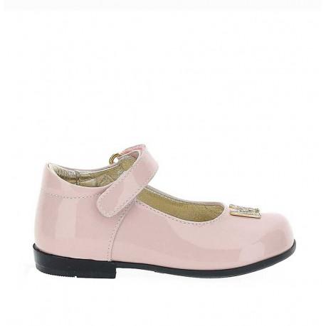 Różowe balerinki dla dziewczynki Monnalisa 004390 - buty dla malucha- sklep internetowy euroyoung.pl