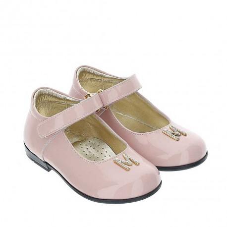 Różowe balerinki dla dziewczynki Monnalisa 004390 - buty dla dzieci i niemowląt - sklep internetowy euroyoung.pl