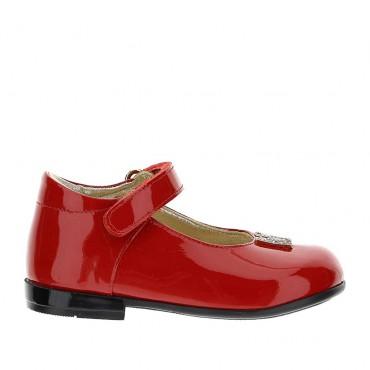 Czerwone baleriny dla dziewczynki Monnalisa 004391 - buty dla malucha - sklep internetowy euroyoung.pl