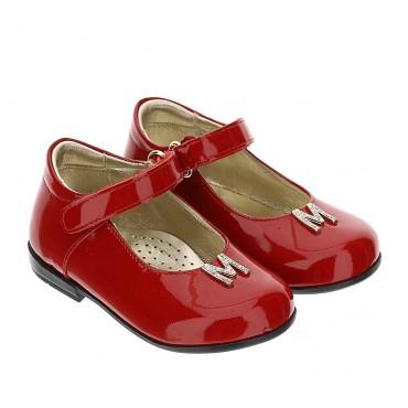 Czerwone baleriny dla dziewczynki Monnalisa 004391 - buty dla dzieci i niemowląt - sklep internetowy euroyoung.pl