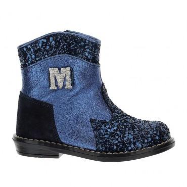 Granatowe botki dla dziewczynki Monnalisa 004392 - buty dla malucha - sklep internetowy euroyoung.pl
