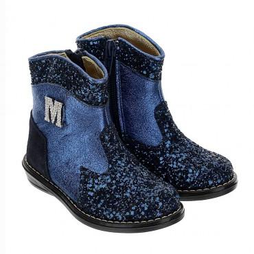 Granatowe botki dla dziewczynki Monnalisa 004392 - modne obuwie dziecięce - sklep internetowy euroyoung.pl
