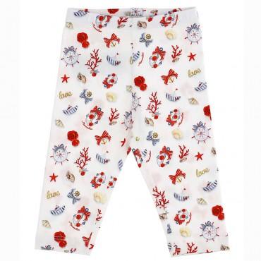 Bawełniane legginsy niemowlęce Monnalisa 004395 - ubranka dla niemowląt - sklep internetowy euroyoung.pl