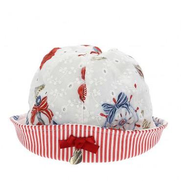 Kapelusz niemowlęcy z kokardą Monnalisa 004396 - czapeczki dla maluchów - sklep internetowy euroyoung.pl