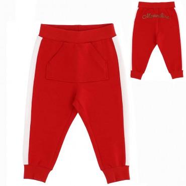 Dresowe spodnie dla niemowlęcia Monnalisa 004397 - ekskluzywne ubranka dla dzieci - sklep internetowy euroyoung.pl