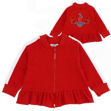 Czerwona bluza dla niemowlęcia Monnalisa 004398 - ubrania dla małych dziewczynek - sklep online euroyoung.pl
