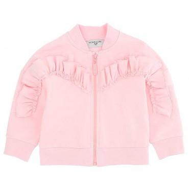 Różowa bluza dla niemowlęcia Monnalisa 004399 - odzież dziewczęca
