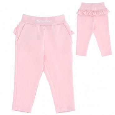 Różowe spodnie niemowlęce Monnalisa 004400 - ubranka dla niemowląt - internetowy sklep euroyoung.pl