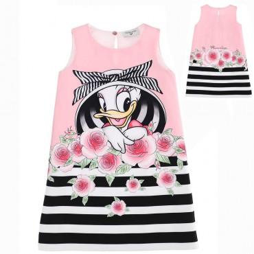 Trapezowa sukienka dziewczęca Monnalisa 004404 - ubrania dla dzieci - sklep internetowy euroyoung.pl
