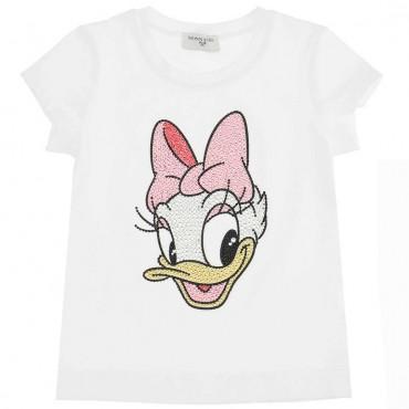 Koszulka dla dziewczynki Daisy Monnalisa 004408 - bajkowe ubrania dla dzieci - sklep online eurououng.pl
