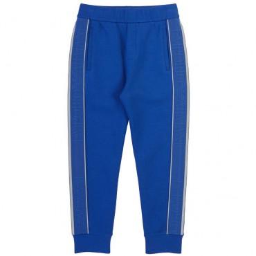 Niebieskie spodnie chłopięce Emporio Armani 004412 - stylowe ubrania dla dzieci - internetowy sklep euroyoung.pl