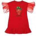 Czerwona sukienka dziewczęca Monnalisa 004416