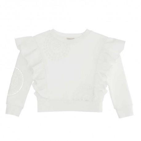 Ażurowe bluzy dla dziewczynek Monnalisa 004418 - piękne ubrania dla dzieci