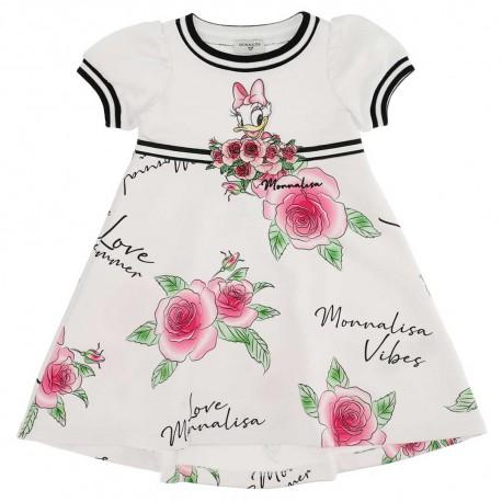 Sukienka w kwiaty dla dziewczynki Monnalisa 004422 - ekskluzywne sukienki dla dzieci i niemowląt - sklep internetowy