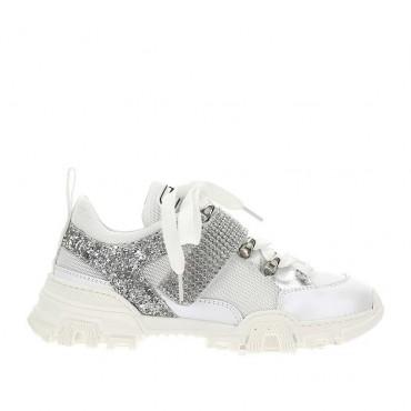 Dziewczęce sneakersy glamour Monnalisa 004424 - modne buty dla dzieci - sklep internetowy euroyoung.pl