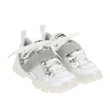 Dziewczęce sneakersy glamour Monnalisa 004424