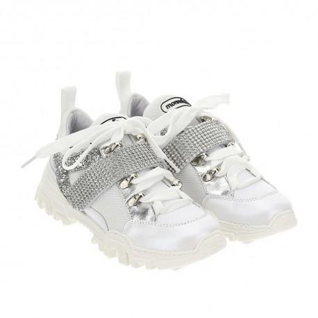 Dziewczęce sneakersy glamour Monnalisa 004424 - obuwie glamour dla dzieci - sklep internetowy euroyoung.pl