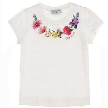 Bawełniany t-shirt dla dziecka Monnalisa 004426 - koszulki dla dziewczynek- sklep internetowy