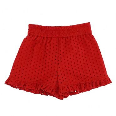 Czerwone szorty dla dziecka Monnalisa 004432 - internetowy sklep z ubraniami dla dzieci