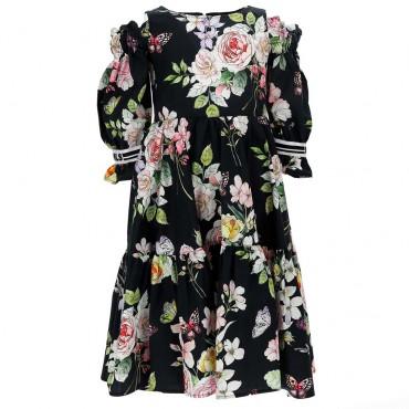 Sukienka z odkrytymi ramionami Monnalisa 004434 - sukienki dla dziewczynek