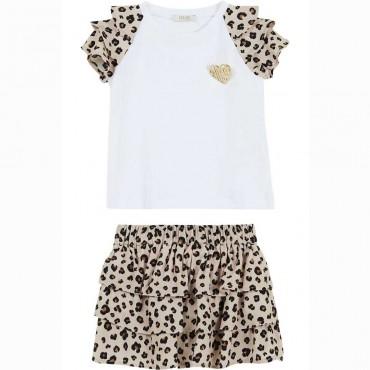 Bluzka + spódniczka dziewczęca Liu Jo 004435 - ubranka dla dzieci i niemowląt