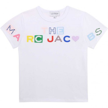 T-shirt dla dziecka z logo The Marc Jacobs 004437 - odzież dla dzieci