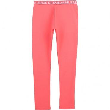 Koralowe legginsy dziecięce Karl Lagerfeld 004438 - ubrania dla dziewczynek
