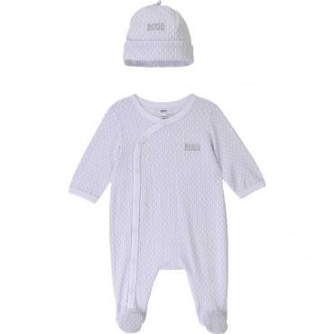 Pajacyk + czapka niemowlęca Hugo Boss 004445 - ubranka dla dzieci