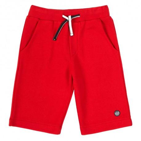 Czerwone szorty dla chłopca Emporio Armani 004448 - ubrania dla dzieci - sklep internetowy