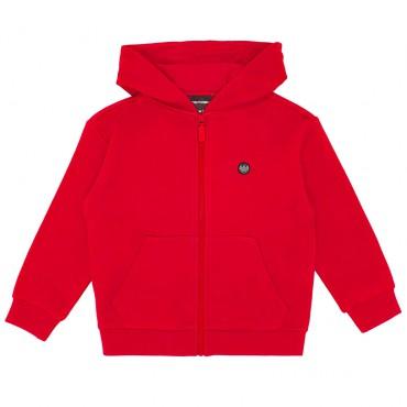 Czerwona bluza dla chłopca Emporio Armani 004450