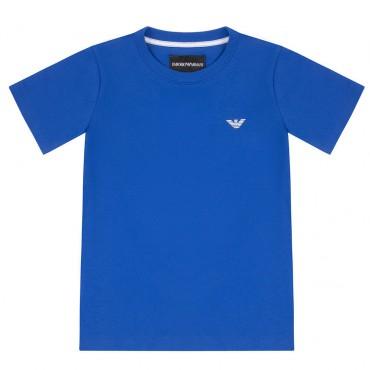 Niebieski t-shirt chłopięcy Emporio Armani 004453 - ekskluzywne ubranka dla dzieci