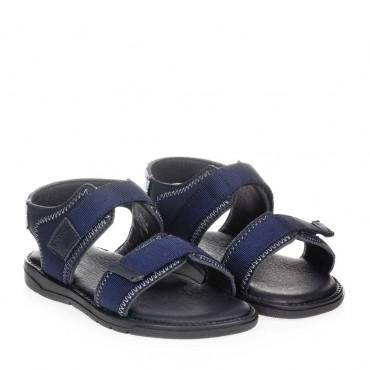 Sandały chłopięce na rzepy Hugo Boss 004456 - markowe buty dla dzieci