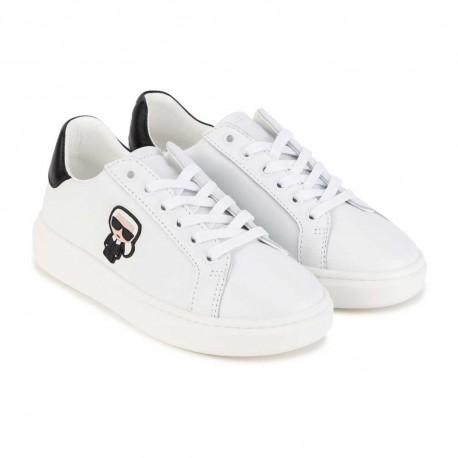 Białe sneakersy dla dziecka Karl Lagerfeld 004460 - markowe obuwie dla dzieci