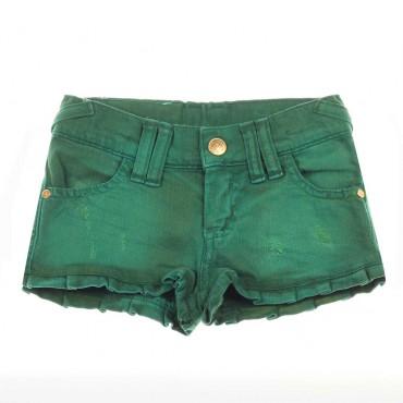 Zielone szorty dla dziecka Monnalisa 004462 - modne ubrania dla dziewczynek