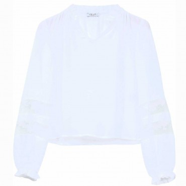 Biała bluzka dla dziewczynki Liu Jo 004475 - odzież dla dzieci i niemowląt- sklep online