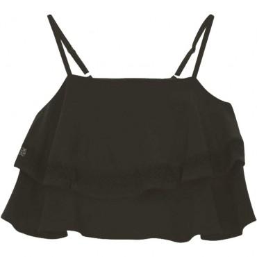 Czarny crop top dla dziewczynki Liu Jo 004476 - ubrania dla dzieci - sklep internetowy