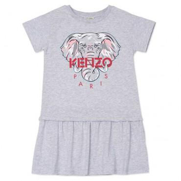 Szara sukienka dla dziewczynki Kenzo 004481