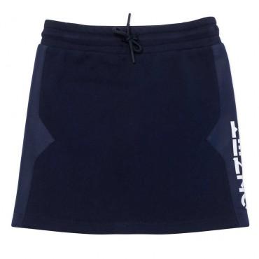 Granatowa spódnica dla dziewczynki Kenzo 004482 - ubrania dla dzieci - sklep internetowy