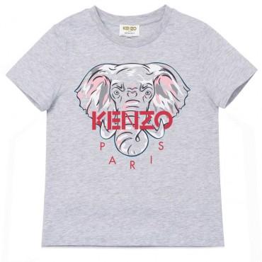 Szary t-shirt dla dziecka Kenzo Kidswear 004484