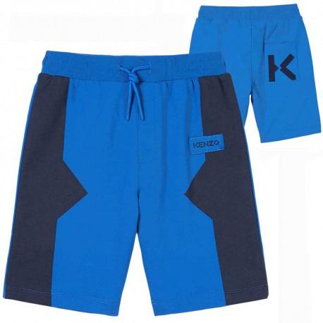 Niebieskie szorty dla chłopca Kenzo 004488 - ekskluzywne ubrania dla dzieci i niemowląt