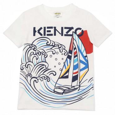 Koszulka chłopięca organic cotton Kenzo 004489